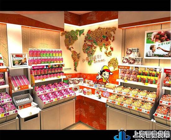 休闲食品超市货架效果图(图)